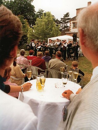 Cambridge University Swing Band im Theatergarten (Foto: R. Uhrig)